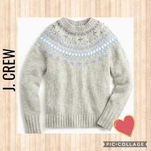 Last Call! J. Crew Woman Embellished Knit Sweater